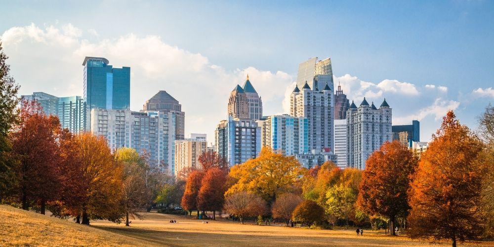 Parque Piedmont en Atlanta